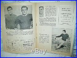 RARE! 1937 ORIGINAL 1st COTTON BOWL FOOTBALL GAME PROGRAM TCU vs MARQUETTE NICE