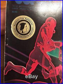 RARE 1973 Super Bowl VII Official Program Dolphins Perfect Season vs Redskins F2