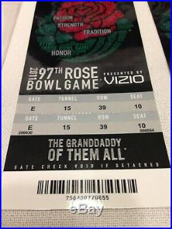 RARE/97th ROSE BOWL GAME 2011/TCU & Wisconsin/Football Game Tickets/2