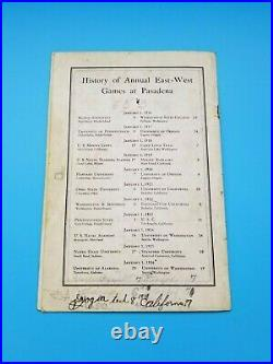 ROSE BOWL FOOTBALL PROGRAM 1927 ALABAMA vs STANFORD OFFICIAL VERSION