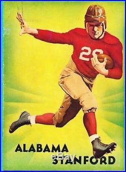 Rare 1935 Rose Bowl Alabama -stanford Football Program-bear Bryant, Don Hutson