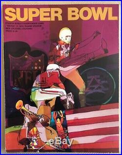 Rare 1970 Super Bowl IV 4 Official Game Program, Vikings-chiefs