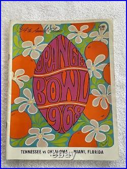Rare Vintage Oklahoma OU Vs Tennessee Football Program Orange Bowl Jan 1, 1968