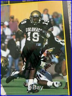 Rashaan Salaam Kordell Stewart Signed Colorado Buffaloes 95 Fiesta Bowl Program