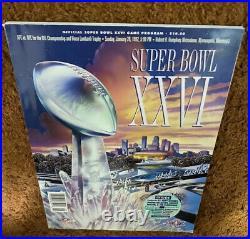 Redskins Super Bowl Program Lot-All 5 SB Appearances