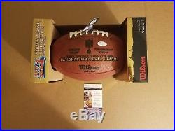 Reggie Wayne and Adam Vinatieri auto Super Bowl XLI footballs and program-JSA