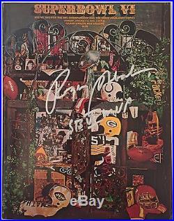 Roger Staubach Signed Football Super Bowl VI Program SB VI MVP Cowboy JSA
