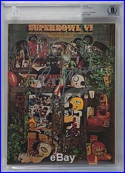 Roger Staubach Signed Original Football Super Bowl VI Program SB VI MVP BAS