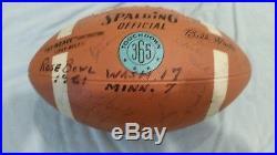 Rose Bowl 1961 Washington Huskies National Champs Autographed Football