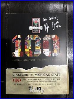Rose Bowl Game Program 2014 Michigan State Kyler Elsworth Autograph