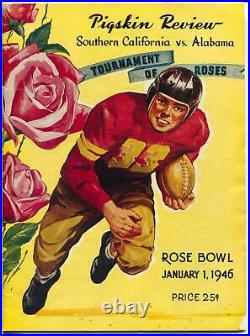 Rose Bowl NCAA Football Game Program-Southern California vs Alabama 1/1/1946-FN
