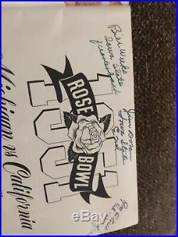 Rose Bowl Program with signatures 1951 California Vs Michigan- Vintage