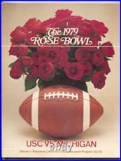 Rose Bowl USC vs. Michigan Football Program January 1 1979