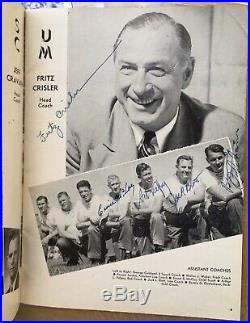SIGNED 1948 ROSE BOWL Football Program 49 University of Michigan Players Coaches