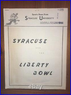 SU Football Sports News from The Liberty Bowl 1961