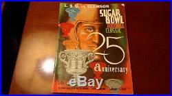 SUGAR BOWL FOOTBALL PROGRAM LSU CLEMSON 1959 Very Good Condition See Pics