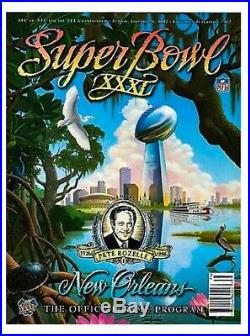 SUPER BOWL 31 PROGRAM Green Bay Packers New England Patriots NEW Mint! 16