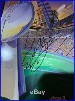 SUPER BOWL 39 XXXIX 05 Brady / McNabb Signed Stadium PROGRAM, Patriots Eagles