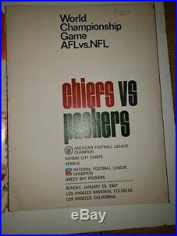SUPER BOWL I PROGRAM AFL Vs. NFL WORLD CHAMPIONSHIP GAME 1967