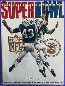 SUPER BOWL III 3 1969 OFFICIAL GAME PROGRAM, Jet Beat Colts, Joe Namath, UPSET