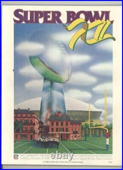 SUPER BOWL XII PROGRAM JANUARY 15, 1978 By John Wiebusch Excellent Condition