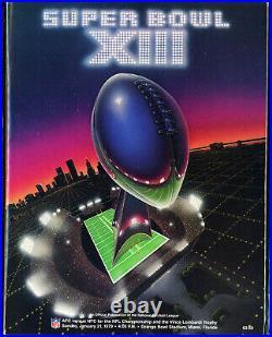SUPER BOWL XIII GAME PROGRAM PITTSBURGH STEELERS vs. DALLAS COWBOYS (NM+) 1979