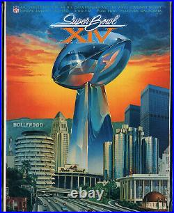 SUPER BOWL XIV GAME PROGRAM PITTSBURGH STEELERS vs. LOS ANGELES RAMS (NM) 1980