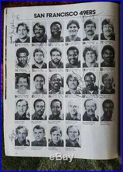 SUPER BOWL XVI, 19 AUTOGRAPHS OF SAN FRANCISCO 49ers BILL WALSH JOE MONTANA +++