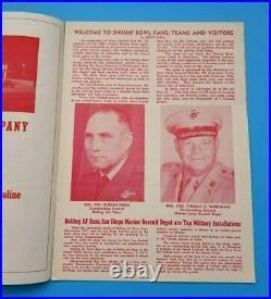 Shrimp Bowl Football Program San Diego Marines Bolling Air Force 1957 Rare