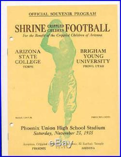 Shrine Bowl Arizona Bowl football program ASU vs BYU scored