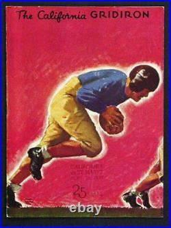 St Mary's v California RARE 1937 Football Program vtg Cal Bears Rose Bowl