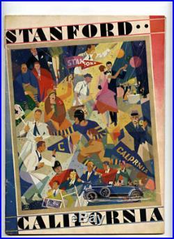 Stanford v Cal RARE 1928 Football Program vtg Big Game Bears Rose Bowl yr