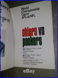 Super Bowl 1 World Championship Game AFL vs NFL Program 1967 Super Bowl I