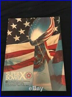 Super Bowl 10 Sb X Program NFL Pittsburgh Steelers Vs Dallas Cowboys 1976