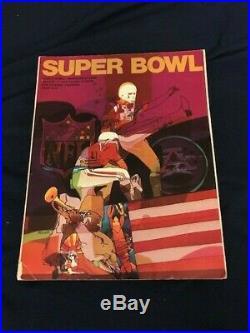 Super Bowl 4 Sb IV Program Afl NFL Minnesota Vikings Kansas City Chiefs 1970