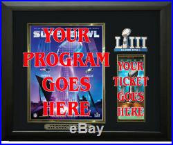Super Bowl 53 Program & Ticket Holder Black Frame Super Bowl LIII