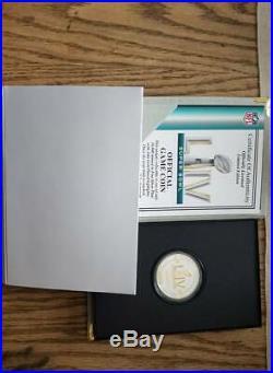 Super Bowl 54 San Francisco 49ers Kansas City Chiefs 2-Tone Official Flip Coin