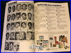 Super Bowl 8 Sb VIII Program NFL Miami Dolphins Vs Minnesota Vikings 1974