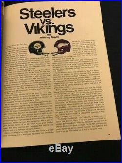 Super Bowl 9 Sb IX Program NFL Pittsburgh Steelers Vs Minnesota Vikings 1975