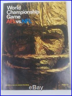 Super Bowl I Program GB Packers v KC Chiefs 1st AFL-NFL World Championship Game