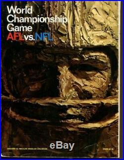 Super Bowl I Program Packers v Chiefs 1/15/1967 Bart Starr MVP Ex 54639