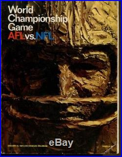 Super Bowl I Program Packers v Chiefs LA Coliseum 1/15/67 Very Nice Ex 43143