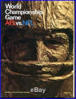 Super Bowl I Program Packers v Chiefs World Championship Game Nice Ex/MT 41086