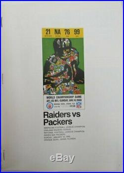 Super Bowl II 1968 Vintage Program Packers v Raiders Bart starr MVP 143797