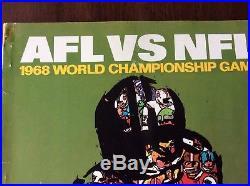 Super Bowl II 2 1968 Program AFL- NFL Green Bay Packers vs Oakland Raiders
