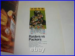 Super Bowl II Football Program Oakland Raiders Vs Green Bay Packers 1968