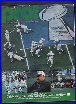 Super Bowl III 3 Football Program Jets Joe Nameth Vs Colts +rare Pro Anniversary