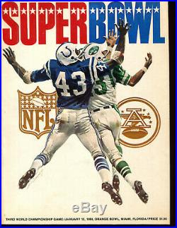 Super Bowl III 3 January 12th 1969 Namath Program NICE! LOOK