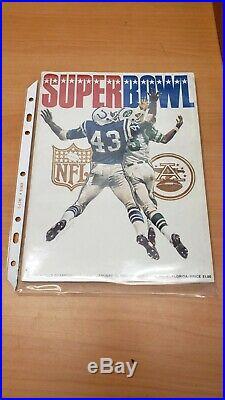Super Bowl III 3 Program Jets v Colts AND 1968 AFL Championship program