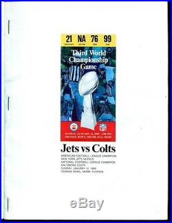 Super Bowl III 3 Program NY Jets v Baltimore Colts 1/12/1969 Joe Namath Ex 29785